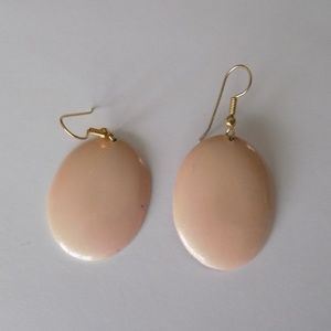 Vintage soft pale pink earrings